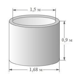 Кольцо для септика КС-15-9