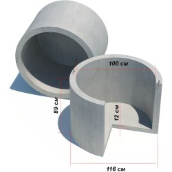 Кольцо для септика с дном КС-10-8