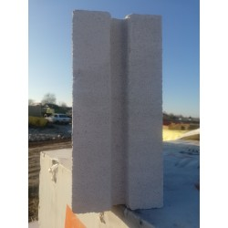 Блоки пазогребневые 115x250x600 мм 2 сорт
